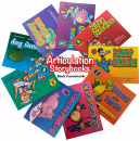 Focus on articulation and phonological awareness with these wonderfully illustrated, engaging storybooks! Each book highlights and repeats in bold a specific target sound throughout the story. This set of 9 books targets: /b, k, h, g, n, d, t, m, p/.