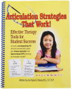 An abundance of articulation therapy activities to target /r, s, z, l, f, v, th, sh, ch/. �More than elicitation techniques, these strategies are easy for students to understand, remember and use. Includes a CD to reproduce materials, plus a bonus DVD demonstrating placement strategies.