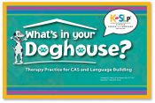 New from Nancy Kaufman...the next step in your therapy practice for CAS and language building!