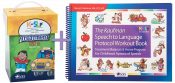 Save $75 when you combine these two best-selling treatment resources. Kaufman Kit 2 will help to refine intelligibility by addressing more complicated speech motor movements and synthesis into initial and final word positions. The Workout Book will help to move children quickly forward from single words into functional phrases and sentences.