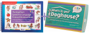 Save $47 when you combine these two popular therapy materials by Nancy Kaufman! The Workout Book helps children expand single words into functional phrases and sentences while What's In Your Doghouse? works to expand expressive language skills with it's unique, hands-on approach.