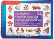 Quickly expand single words into functional phrases and sentences! Includes 16 cueing and scripting workouts that build on the simple syllable shapes learned in Kaufman Kit 1. Features the familiar Mutt Family characters