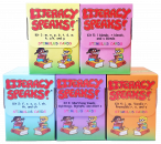 Save $124 when you purchase all (5) Literacy Speaks!® Kits. Complete program to target phonology-based speech sound disorders while naturally supporting language and literacy. Targets the full alphabet, including long/short vowels, diphthongs, digraphs, and silent e.  Plus L, R, S blends!