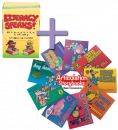 SAVE $40 when you pair these 2 therapy materials targeting similar sounds! Kit 1 targets the sounds/letters: b, c/k, d, g, h, m, n, p, t, w and is an all-in-one treatment program that successfully targets articulation, phonological awareness, speech intelligibility, and foundation literacy skills – all simultaneously! Use the engaging Articulation Storybooks - Basic Consonants for even more practice on target sounds: /b, k, h, g, n, d, t, m, p/.