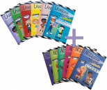 SAVE $45 when you pair these 2 unique sets of books! Language Theatre Books feature playfully illustrated, no-preparation play scripts targeting Synonyms, Antonyms, Context Clues, Idioms, Attributes, & Inferencing, while The Articulation Theatre Books are an easy and creative way to target multiple sounds simultaneously in a group setting and with success! Features playfully illustrated, no-preparation play scripts targeting R, S, L, Sh, Ch, Th.