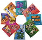 Focus on articulation and phonological awareness with these engaging storybooks. Each book highlights and repeats a specific sound/letter throughout the book. This set targets: /ad, et, ip, it, op, ot, ud, ut/.