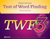 The TWF-3 is the standard in word finding assessment. It is a nationally standardized, individually administered, diagnostic tool for the assessment of children's word finding skills. Now updated and more comprehensive!