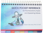 This handy resource is specifically designed to aid the SLP in managing patients with tracheostomy tubes and speaking valves. Organized to help clinicians quickly recognize common trach tubes and speaking valves. Basic terms are defined and helpful tips to problem solve appear throughout the manual. Photos of the trach tubes and speaking valves are shown from the angle a clinician would view when evaluating and treating a patient.